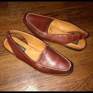 Cole Haan Country 8 Narrow Leather Slingback Flats